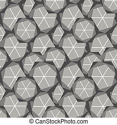 abstract geometric seamless vector pattern in grey colors