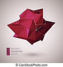 Abstract geometric shape background. Vector illustration