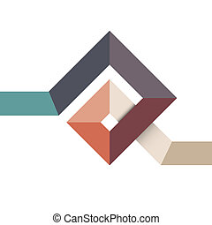 Abstract geometric shape for design. Vector EPS10