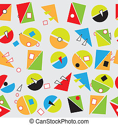 Abstract geometric shapes in colors