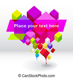 Abstract geometric speech bubble background