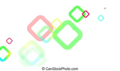 Abstract Geometric Squares Loop HD