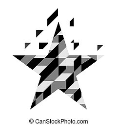 Abstract geometric star isolated on white background, vector illustration