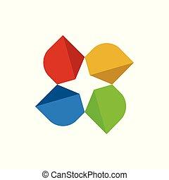 Abstract Geometric Star Symbol Design