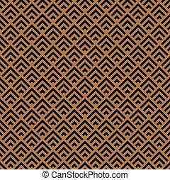 Abstract geometric striped triangles row pattern background. Vector seamless