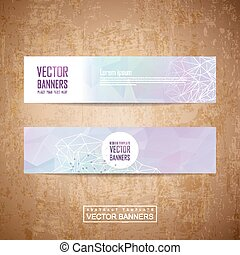 geometric style design banner template set