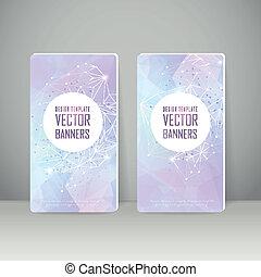 geometric style design banner template set