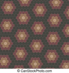 Abstract geometric tiles pattern background