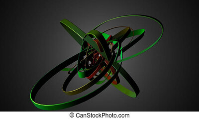 Abstract geometric transformation motion 3d elements