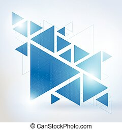 Abstract geometric triangle background-3