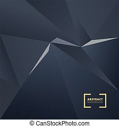 Abstract geometric triangle polygonal space low poly dark background. Vector