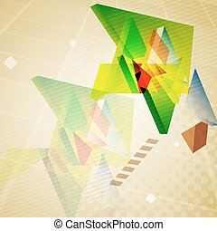 Abstract geometric triangles background.