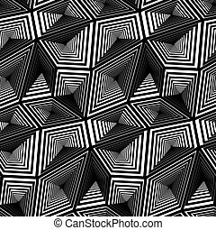 Triangular Vector Seamless Pattern - Abstract Geometric...