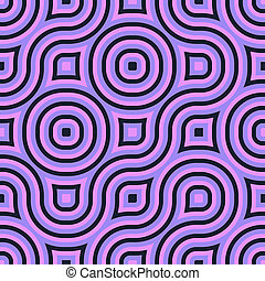 Abstract geometric truchet background seamless tiling texture pattern
