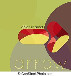 Abstract geometric vector background. Arrow.
