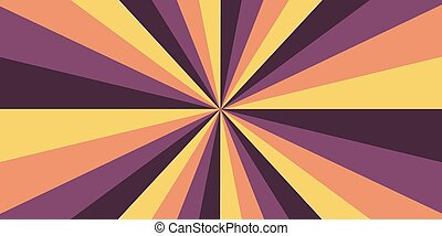 Abstract geometric vector design Halo light, sun burst, yellow light line, orange and purple