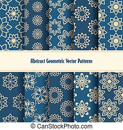 Abstract geometric vector patterns