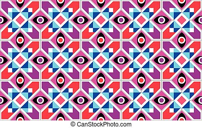 Abstract Geometric vector seamless pattern