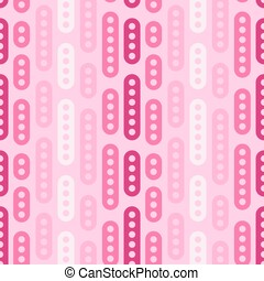 Abstract geometric vector seamless pattern. Simple pink ornament on light background. Can be printed and used as wrapping paper, wallpaper, textile, fabric, etc.