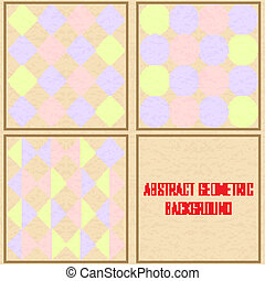 abstract geometric Vintage vector background