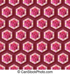 Abstract geometrical 3d background. Seamless pattern....