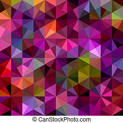 Abstract Triangle Geometrical Multicolored Background, Vector Illustration EPS8