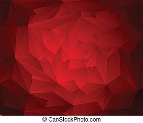 Abstract Triangle Geometrical Red Background, Vector Illustration