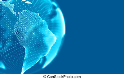 Abstract Geometrical Background ..Futuristic technology style. Neon Sign . HUD Element . Elegant . Big data visualization .