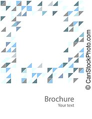 Abstract geometrical background with blue triangles. Eps10
