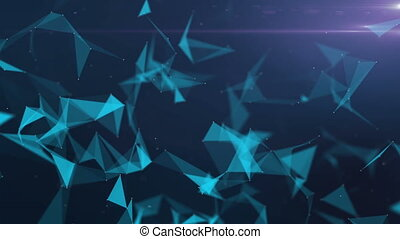 Abstract geometrical background with triangle in blue color