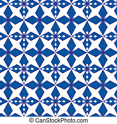 Abstract geometrical blue pattern seamless vector background