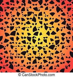 Abstract Geometrical Design. Quarter circular slices circle