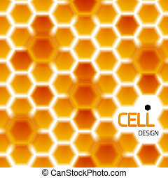 Abstract geometrical honey cells modern template - Abstract...