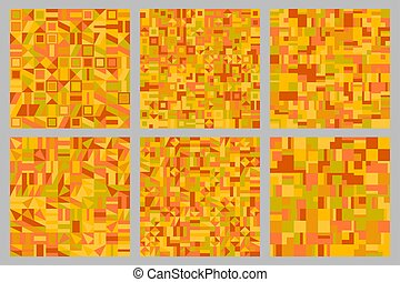 Abstract geometrical mosaic pattern background design set
