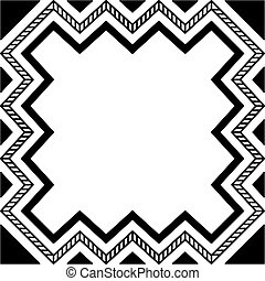 Abstract geometrical monochrome vector pattern, black and white