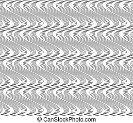 Flat gray with hatched vertical waves