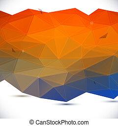 abstract, geometrisch, achtergrond, 3d