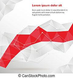 abstract, geometrisch, achtergrond, rood