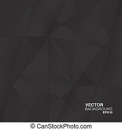 abstract, geometrisch, black , diamant, v