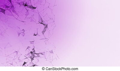 abstract geometry plexus background connected particles -...
