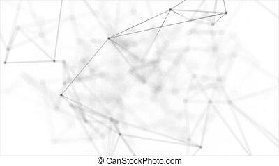 Abstract Geometry plexus Lines Seamless Loop Background