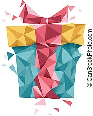 Abstract Gift Geometric Design