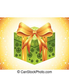 abstract gift icon vector