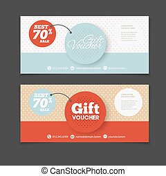 Abstract gift voucher or coupon design template. Voucher...