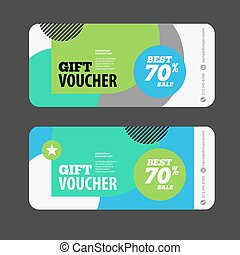 Abstract gift voucher or offer design template. Voucher design, blank, print design, coupon. Gift voucher vector. Offer template. Offer design. Voucher template. Voucher abstract design. Offer background