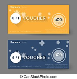 gift voucher - abstract gift voucher with circles, flat...
