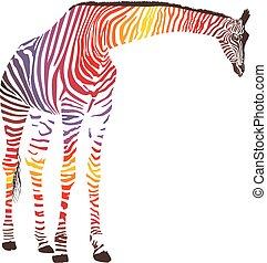 Abstract giraffe with zebra skin