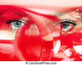 abstract glance with photo