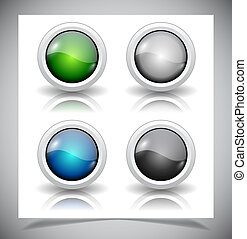abstract glass buttons. EPS10 file.