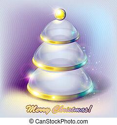 Abstract glass Christmas tree